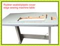 2014 venta caliente sello de goma mesa de costura de la cubierta de plástico máquina de coser industrial