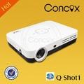 usb tarjeta llevó la lámpara proyector con alta lunmens para la oficina/casa/educación concox shot1 q