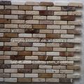 travertino mixta de piedra de pizarra del mosaico