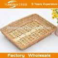 Venta caliente rurality rectangular de mimbre cesta de almacenamiento para el hogar, tienda o a los mercados