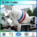 Mezclador de hormigón para camiones con doble eje, el volumen y el chasis opcional