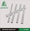 espaciador de aluminio para vidrio