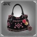 estilo étnico de asas del bolso nuevo de invierno de lana de moda bolso de mano la bolsa