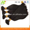 """2014 nueva moda baratos 16"""" 100% trenzado sintético de pelo a granel para las mujeres negro"""