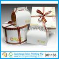 Différentes tailles d'emballage boîte de papier pour le gâteau