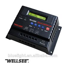 48v 60a sistema de energía solar regulador de carga pwm regulador de panel solar ws-c4860