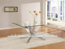 Cruz de acero inoxidable base de mesa de comedor tc-848