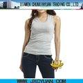 El último diseño dri fit 100% en blanco de algodón superior del tanque mujeres ropa de deporte al por mayor proveedor de china