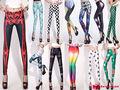 2013 Whoelsale no MOQ límite baratos Leggings impresos personalizados para las mujeres