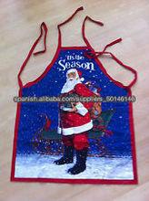 Hecho a mano delantal de diseño de la Navidad con Santa