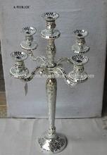 candelabros de cinco brazos mozek espejo de plata 45 usd