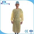 não tecido amarelo descartáveis avental cirúrgico estéril