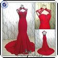 pp0109 con cuentas de diseño de cola de pescado vestido de noche 2014 venta al por mayor