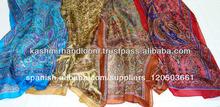 pura bufandas de seda impresa en diseños de paisley