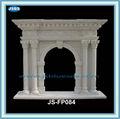la columna antigua tallada chimeneas de la chimenea