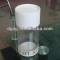 China transparente/claro tubo de papel com janela de pvc para alimentos/presente/embalagens de cosméticos