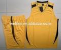 de alta calidad hombres ropa de deporte de baloncesto para conjunto de color amarillo