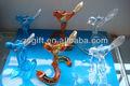 refinado artesanato aves de vidro enfeites de natal