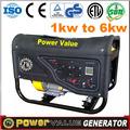 Confiable para uso doméstico de china 2kw 2.5kw 2.8kw 3kw 4kw 5kw 6kw tipos de generador de energía eléctrica para la venta