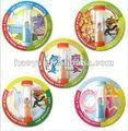 Exquis en plastique coloré sablier sablier acrylique pour 1/3/5 munites pour les enfants