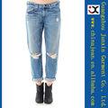 jeans mujer agujero fotos de moda los pantalones vaqueros de los pantalones vaqueros (JXL20950)