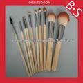 Pincel de maquillaje de bambú establecer 10 piezas
