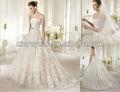 Lov-035 lujoso encaje vestido de bola vestido de boda nupcial 2014