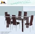 Vidro mesa de jantar e 6 cadeiras conjunto XYS-105