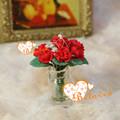 1/12 bonecas em miniatura de fada do jardim de flores de argila