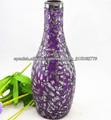 florero de vidrio mosaico al por mayor/púrpura elegent decoración florero