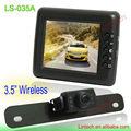 Calidad de la cámara la placa del sistema de alta 3,5 pulgadas inalámbrico licencia de rearview del coche (LS-035A)