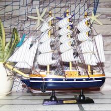 de pino 50cm talla de madera decorativa manualidades modelo de barco de vela