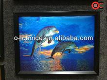 Ck-2 decoración para el hogar decoración de la pared de acrílico en 3d agua delfines imágenes de animales de la pintura