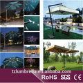 patio paraguas con luces led y altavoz inalámbrico bluetooth para relajarse