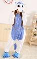 Adultos& los niños unicornio azul onesie pijama