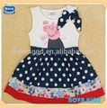 ( h5000) blanco 18m-6y nova de bebé niña peppa pig vestido de princesa poco vestidos de niñas vestido de lujo