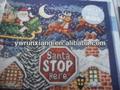 3d de papel de navidad santa deténgase aquí y pegatinas de pared