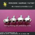 10mm de níquel de metal del cubo pico tacos para la decoración de prendas de vestir