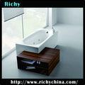 portátil de plástico bañera independiente con precio pies