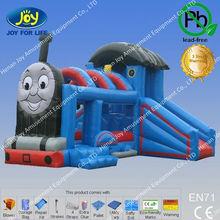 parque de atracciones de dibujos animados tren de juguete para la venta, ho maqueta de tren inflable castillo hinchable