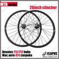 100% 26er MTB ruedas de bicicleta llenas del carbón hecho a mano puro mtb