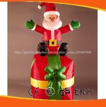 Decoración de navidad de santa claus inflables/nuevo para los juguetes de navidad 2014