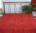 Elegante hecho a mano colchas de cama de sábanas bordadas diseño colchas/cubrecamas