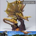 gótico del dragón en fibra de vidrio o de artes de la resina de la escultura estatua de arte popular de decoración del hogar