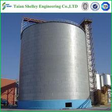 de fondo plano de acero de grano silo para el almacenamiento de grano