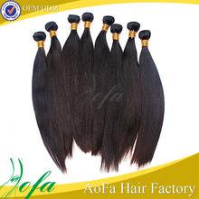 venta al por mayor puede ser teñido del cabello humano a granel kinky recta para trenzar
