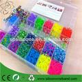 NUEVO DIY 2.200 piezas de goma colorida Loom Bandas pulsera que hace el kit Set cableado de plástico