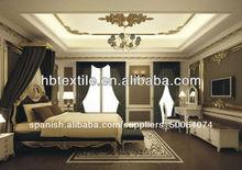 hotel de alta calidad de la cortina blackout con forro