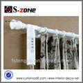 Blanc trifaze, télécommande électrique de luxe en aluminium moteur rideau romain sets rod