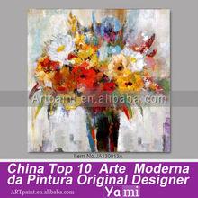 Imagen moderna cartel de arte abstracto acrílico sobre lienzo